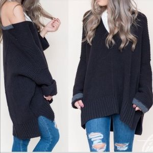 Free People Take Me Places V Neck Sweater